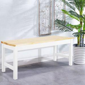 BANC  Banc de salon en bois de pin massif - Petite tabl