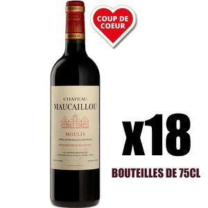 VIN ROUGE X18 Château Maucaillou 2016 75 cl AOC Moulis-en-Mé