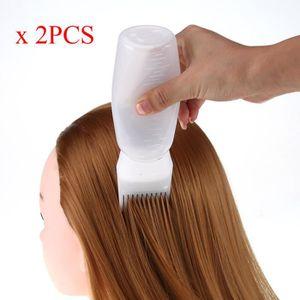 TEINTURE TEXTILE 2Pcs teinture des cheveux Bouteille Applicateur Br