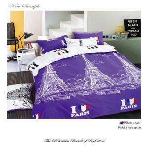 parure de lit paris achat vente parure de lit paris pas cher cdiscount. Black Bedroom Furniture Sets. Home Design Ideas
