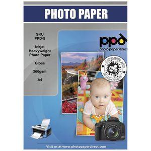 PAPIER PHOTO PPD Jet d'encre A4 papier photo brillant poid lour