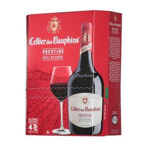 VIN ROUGE BIB Cellier des Dauphins Côtes du Rhône Prestige –