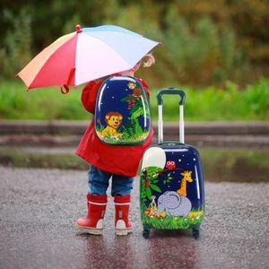 VALISE - BAGAGE COSTWAY Valise Enfant Sac à Dos Enfant Trolley à r