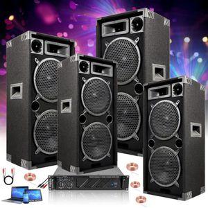 PACK SONO DJ PACK SONO 4000 dont 4 ENCEINTES 1000 + 1 AMPLI