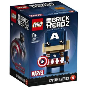ASSEMBLAGE CONSTRUCTION LEGO® BrickHeadz 41589 Captain America