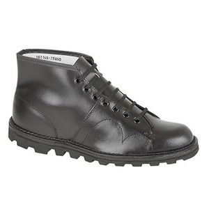 BOTTINE Grafters - Bottines rétro en cuir - Homme Noir