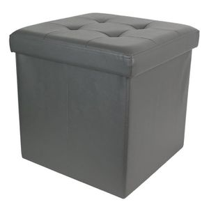 COFFRE - MALLE Coffre banc pliable en polyuréthane coloris gris -