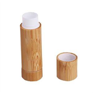 BAUME SOIN DES LÈVRES Nouveaux tubes de baume de lèvre en bois en bambou