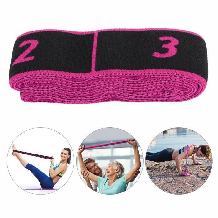 Fitness Elastic Bands Resistance Belt Yoga Sling Accessoire d'exercice pour la formation (rose)-SPR