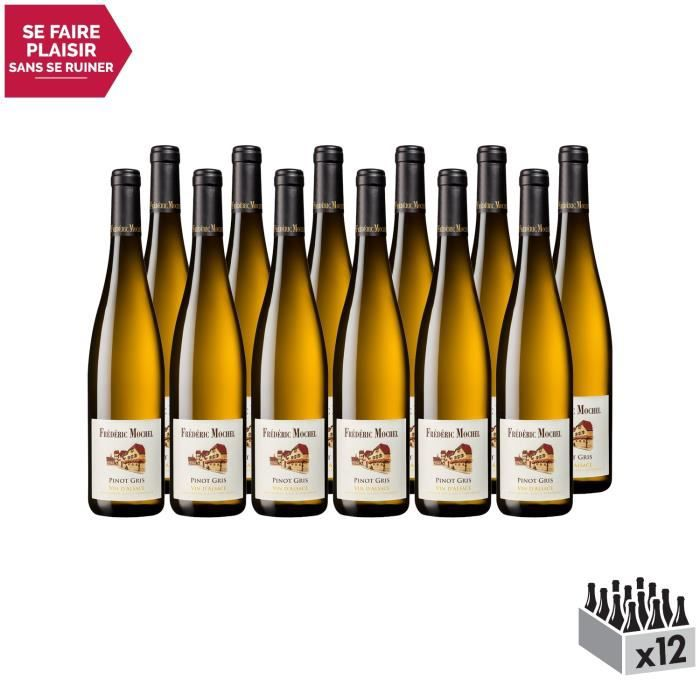 Alsace Pinot Gris Blanc 2017 - Lot de 12x75cl - Domaine Frédéric Mochel - Vin AOC Blanc d' Alsace - Cépage Pinot Gris