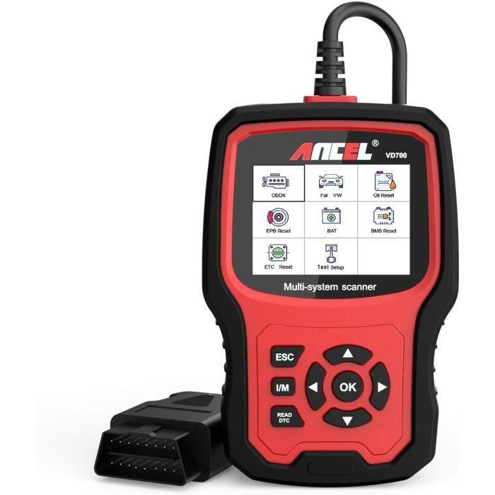 ANCEL VD700 Lecteur de Code OBD2 Diagnostic du Tout Système pour Véhicules VAG Volkswagen Audi Seat Skoda Scanner OBD Rémise à Zéro