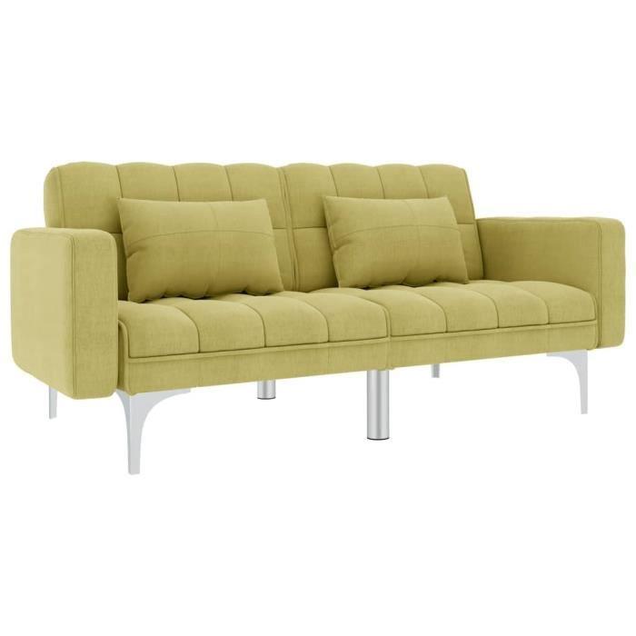 Haute qualité - Canapé-lit Sofa Canapé Convertible design contemporain Vert Tissu♛♛♛♛♛2477