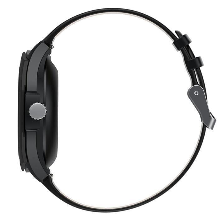 Montre Connectée Noir Tactile Plein Écran Couleur Multi-fonction Bluetooth 4.0 Bracelet à Puce