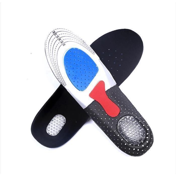 EOZY Semelle Orthopédique de Massage Absorbant en Gel de Silicone Sport Anti-Choc Pour Homme Support Soutien Plantaire M HH38355