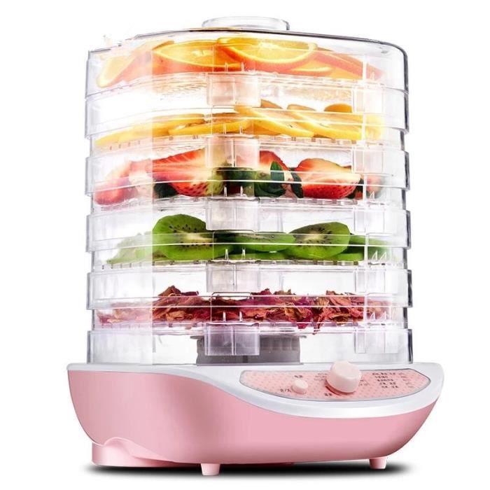 déshydrateur d'aliments domestiques, 5 plateaux, séchoir à Air pour Snacks, fruits, légumes, herbes, viande, animal domestique