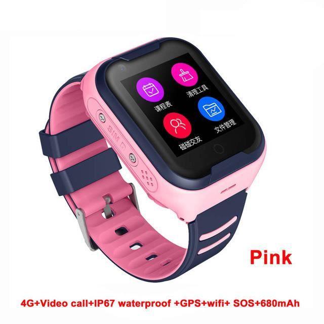 Support Bluetooth Smart Watch pour enfants 4G imperméable Rose Version européenne