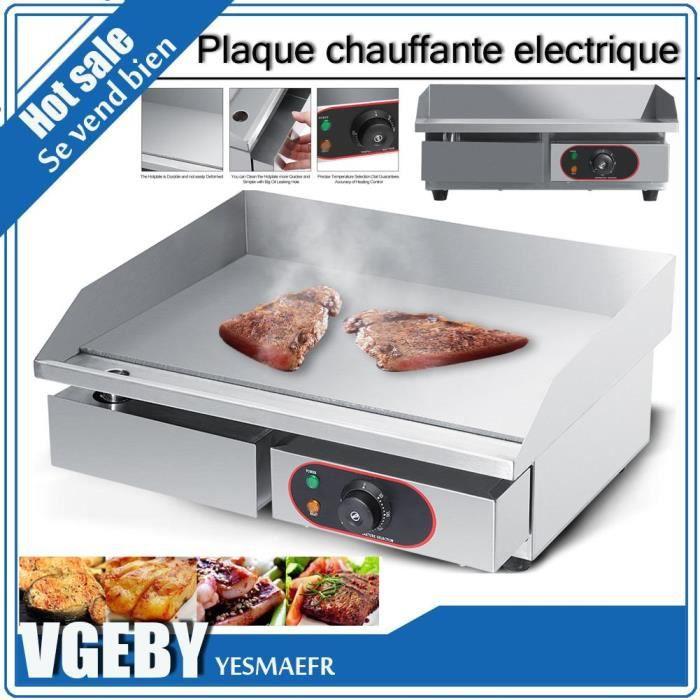 Planter Plancha Table Electrique Professionnelle Plaque Chauffante Electrique Commerciale BBQ en Inox