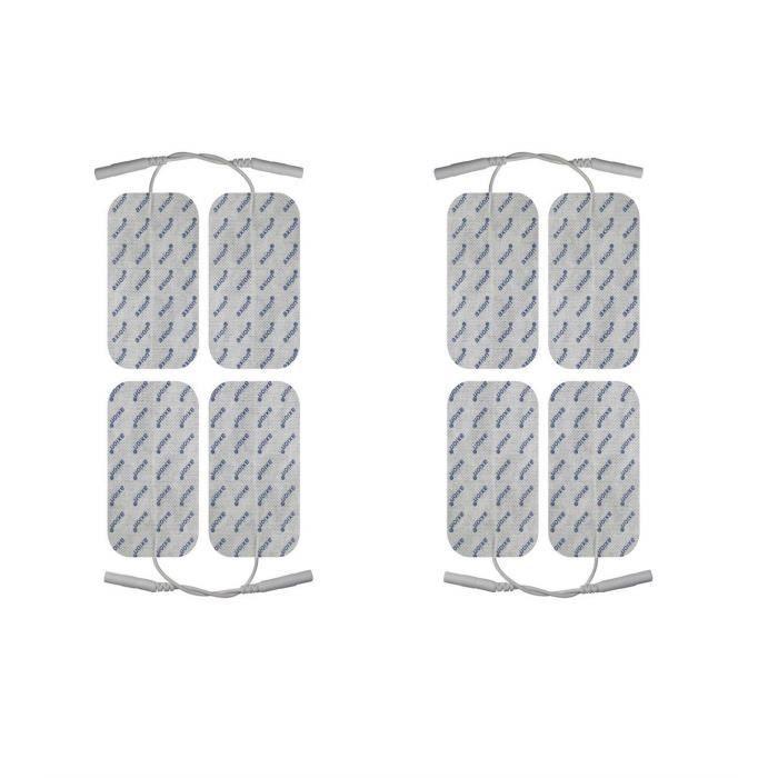 8 électrodes pour électrostimulateurs Cefar Compex Wire - 10 x 5 cm - compatible avec les électrostimulateurs Compex