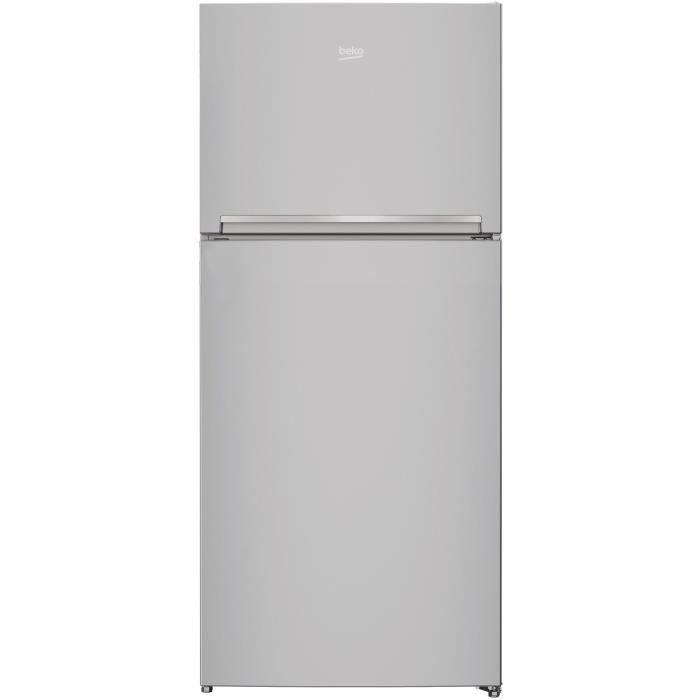BEKO - RDSE450K20S - Réfrigérateur double porte - 389L (292L + 97L) - Froid Brassé - A+ - L70cm x H170,5cm - Silver