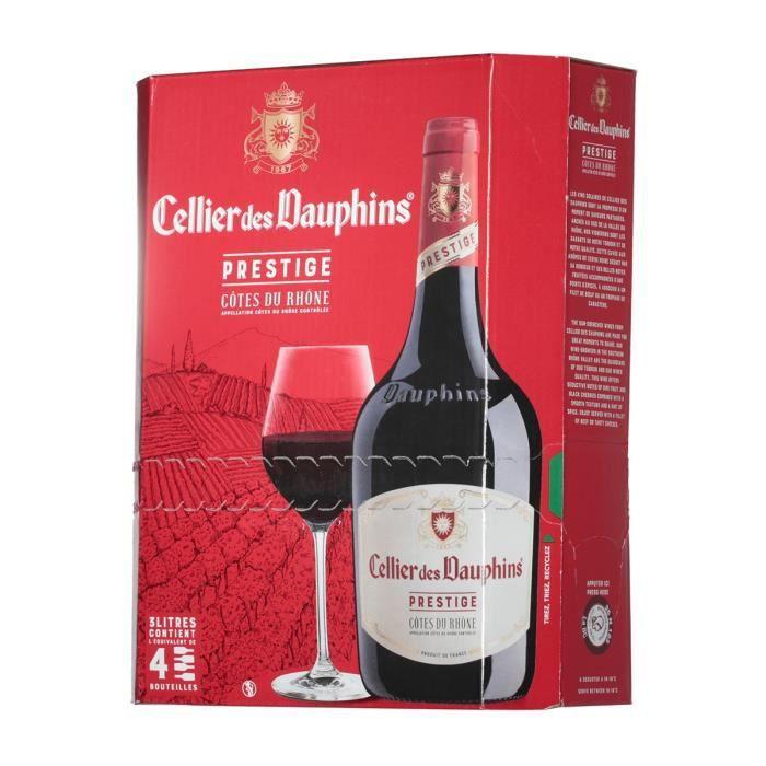 Vin rouge vallée du Rhône 3 l Cellier des Dauphins