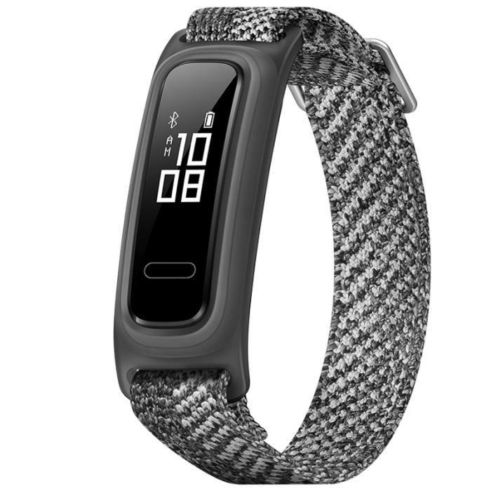 Huawei Band 4e Bracelet Intelligent Etanche Moniteur Cardiaque Santé Fitness Tracking Tressé Gris