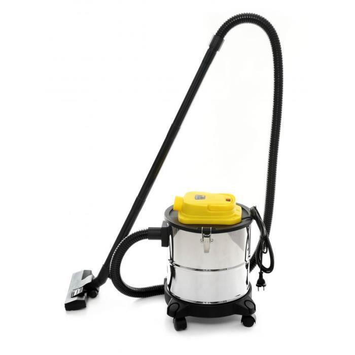 DCRAFT - Aspirateur industriel - Aspirateur poussière - Puissance 1650W - Puissance d'aspiration >17kPa - Filtre HEPA