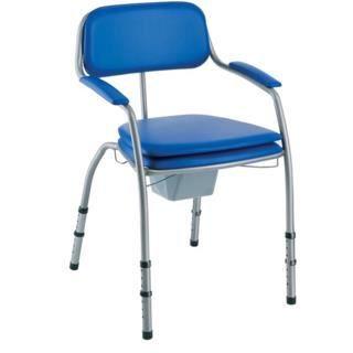 Chaise de toilettes percée réglable Omega H450LA