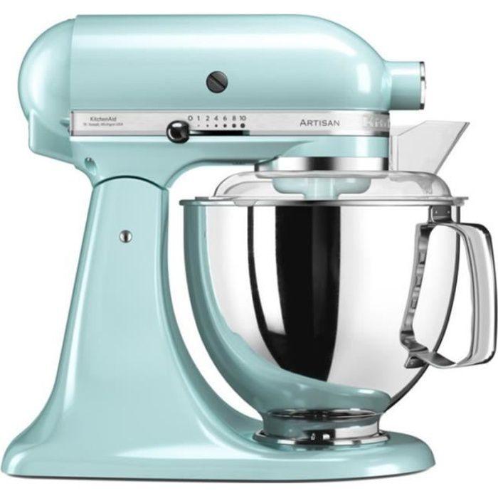 Kitchenaid - robot sur socle 4,8l 300w bleu glacier - 5ksm175pseic