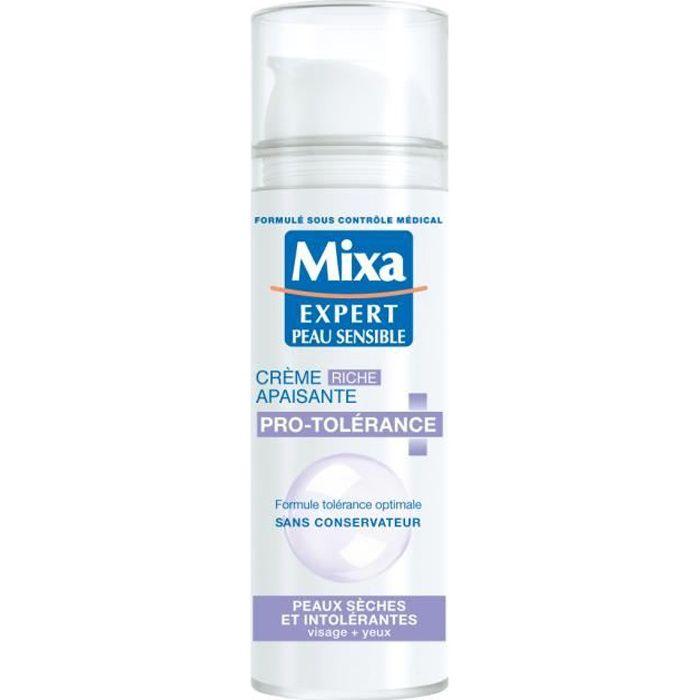 Mixa Mixa Visage FP50 ProTolerance Riche FRNL, Unisexe, Peau sensible, Hydratant, Lissage, 30-, 50 ml, 39 mm