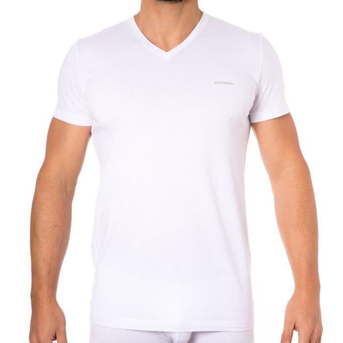 Diesel Lot de 3 T-Shirts Essential Jake Blanc