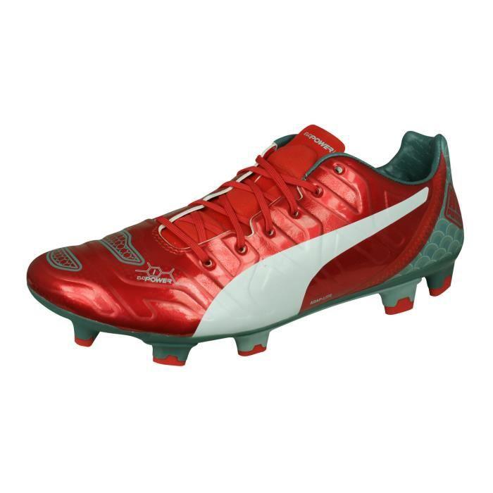 Puma evoPOWER 1.2 Graphic FG Homme Chaussures de Football Terrain Sec Rouge 10