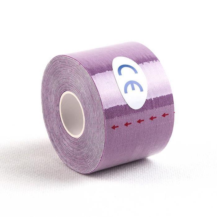 PROTEGE-CHEVILLES - CHEVILLERE,Kinésiologie bande élastique coton rouleau adhésif bande Muscle blessure - Type Purple-2.5x5cm