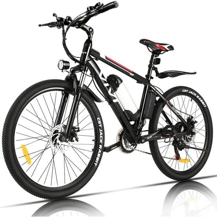 VIVI Vélo Électrique Adulte Vélo de Montagne 26- avec Moteur 350W- Batterie 36V-8Ah Amovible-Engrenages 21 Vitesses