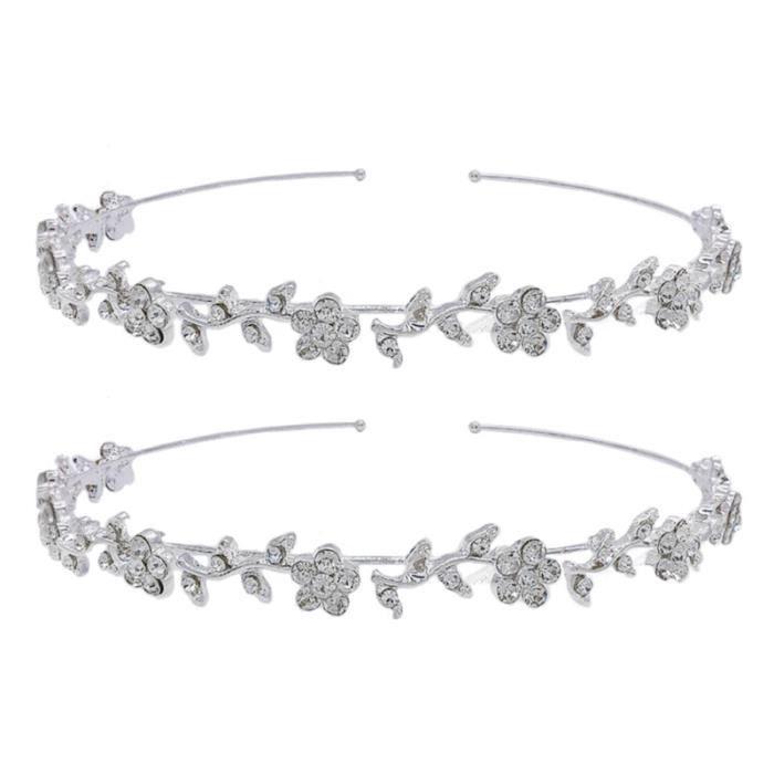 2 pièces cerceaux de rétro strass imitation cristal élégant bandeau accessoire de coiffure APRES-SHAMPOING - DEMELANT