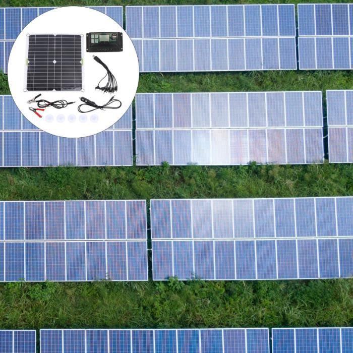 1 Ensemble de panneau solaire d'urgence d'alimentation kit photovoltaique - kit solaire genie thermique - climatique - chauffage