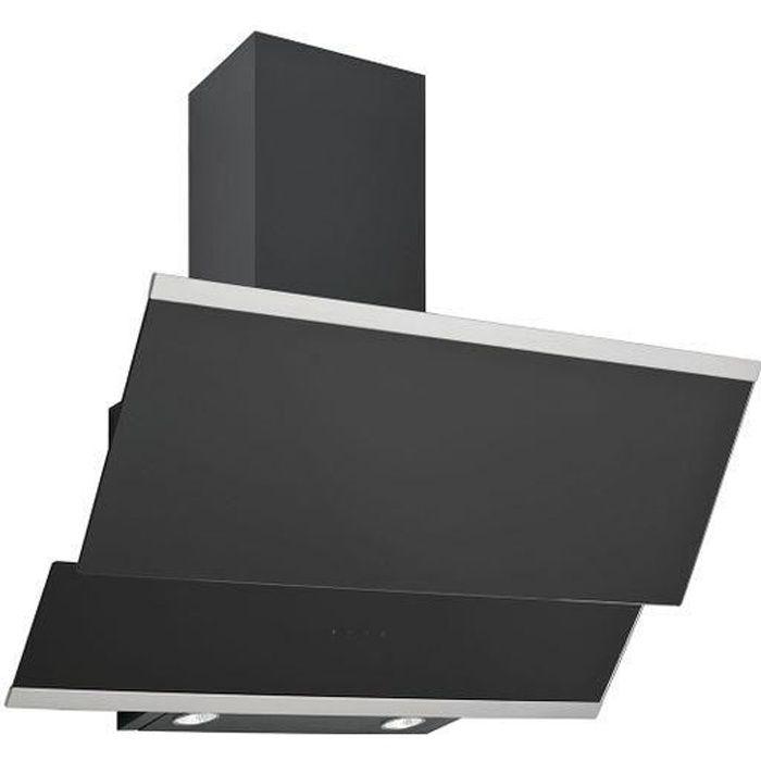 Hotte cuisine verticale Silverline LUKO verre trempé noir - 600mm Noir
