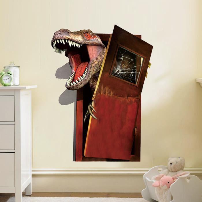 STICKERS 3D Dinosaure Prison Break Porte Décorations Enfant