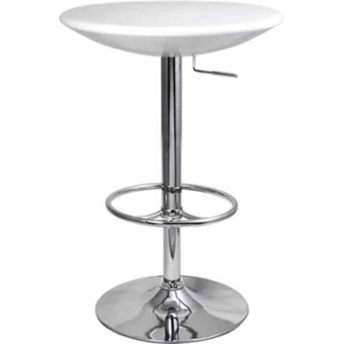 Podey blanc grand bar table r glable de cuisine cadre for Grand bar cuisine