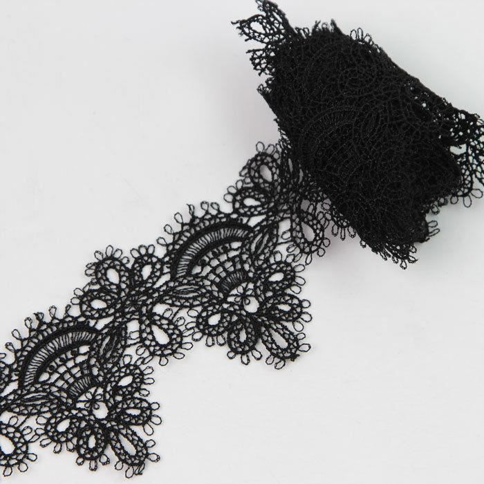 2 yards dentelle au m tre lace noir ruban guipure applique