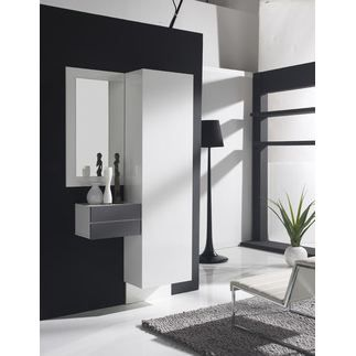 vestiaire d 39 entr e valeriane coloris blanc et achat vente meuble d 39 entr e vestiaire d. Black Bedroom Furniture Sets. Home Design Ideas