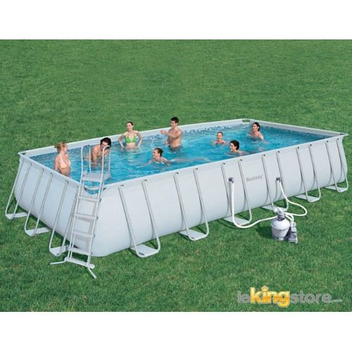 Piscine autoportante rectangulaire steel pro frame pools for Achat piscine autoportante