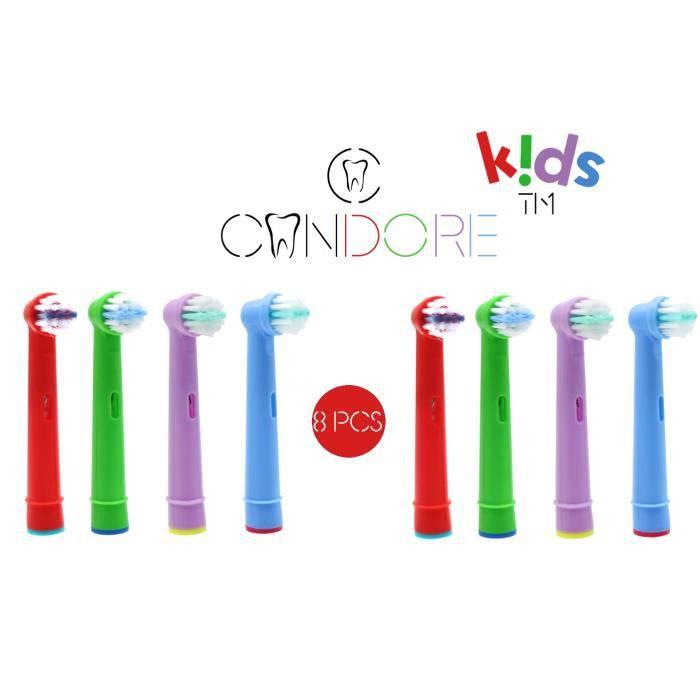 BROSSE A DENTS Candore® Pack 8 Brossettes Kids Compatibles Brosse