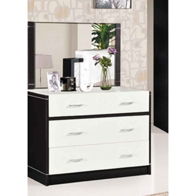 commode doni noir et blanc achat vente commode de chambre commode doni noir blanc cdiscount. Black Bedroom Furniture Sets. Home Design Ideas