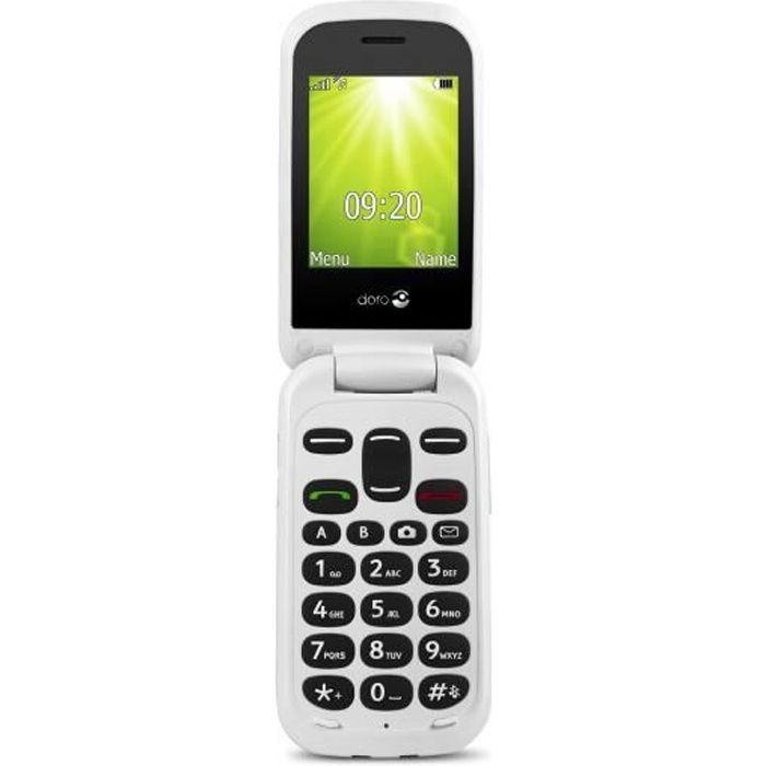 eb7423b0a19f99 Doro 2404, Clapet, SIM unique, 0,3 MP, Bluetooth, 1000 mAh, Rouge ...