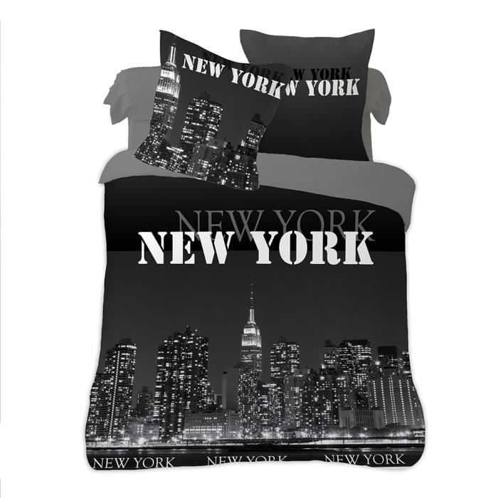 Housse de couette new york for Drap housse new york