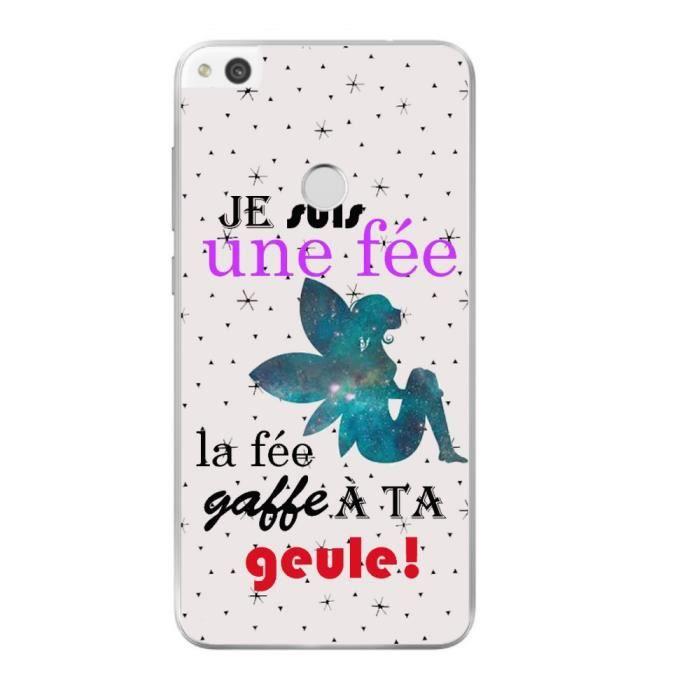 Coque Souple pour Huawei P8 lite 2017 Humour Fee Drole Fait Gaffe ...