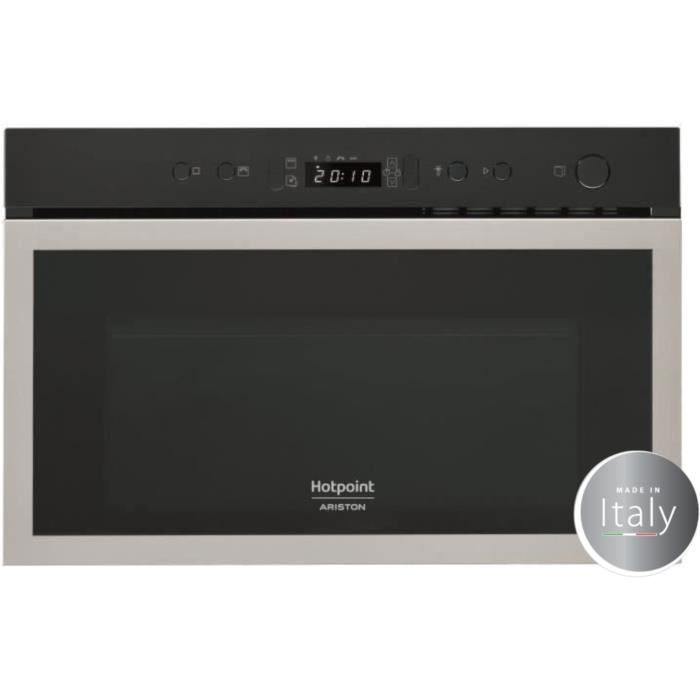 hotpoint mh 600 ix micro ondes combin encastrable inox anti trace 22l 750 w grill 700 w. Black Bedroom Furniture Sets. Home Design Ideas