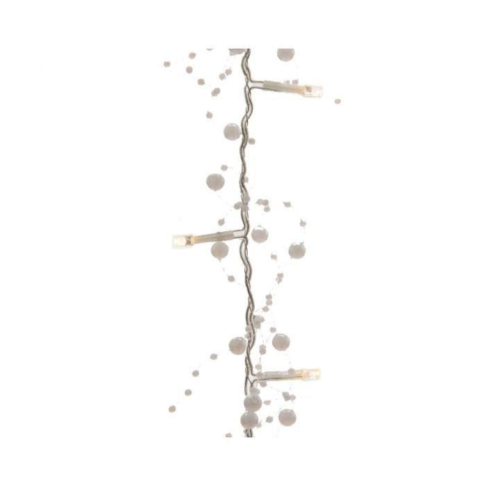 GUIRLANDE DE NOËL Guirlande LED Perle Blanc 180cm