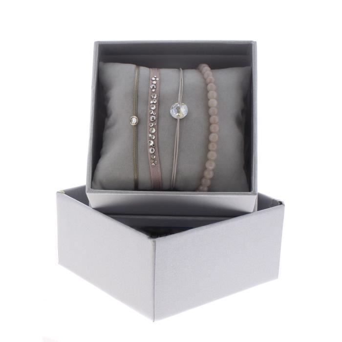 Bracelet Les Interchangeables Strass Box Noël 2017 Beige Rose 1