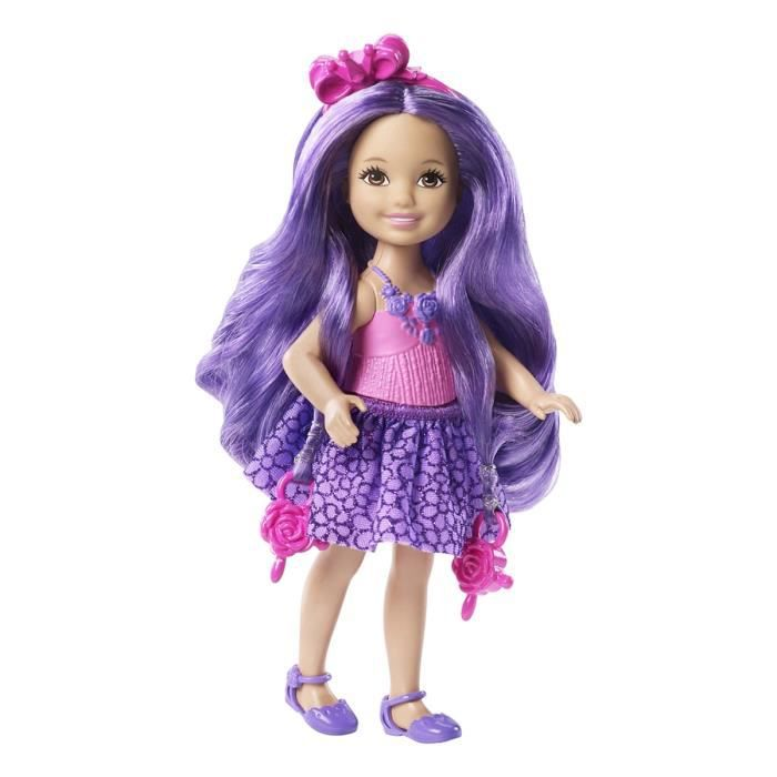 Barbie princesse chevelure magique violette de mattel for Barbie chien piscine